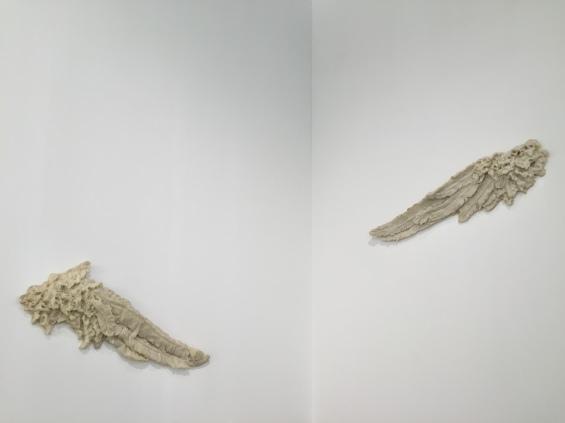 Patrick Neu, Ailes en cire, 2007, Wax