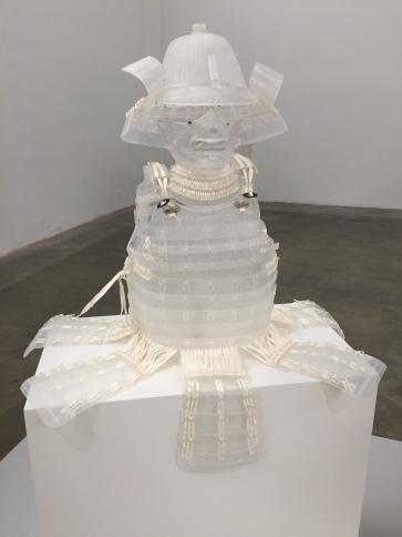 Patrick Neu, Armure japanoise en cristal, 1999-2015, Cristal, métal, papier