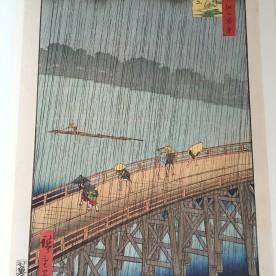 Sudden Shower Over Shin-Ohashi Bridge and Atake (1857) of Hiroshige