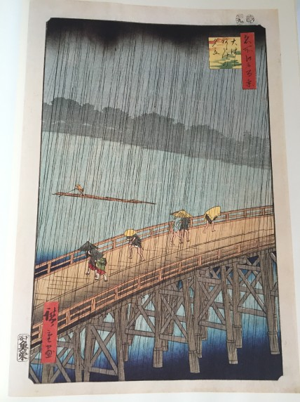 Sudden Shower Over Shin-Ohashi Bridge and Atake (1857) of Hiroshige