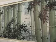 Yao Gengyun (1931-1988), Fang Zengxian (born 1931), and Lu Kunfeng (born 1934), Rafts along the bamboo bank, Horizontal scroll, ink and colour on paper, 1975