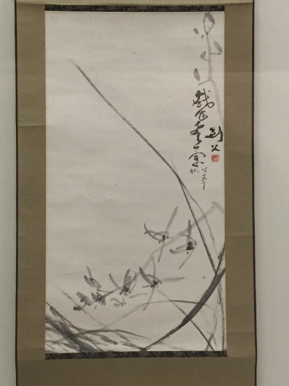 Gao Jianfu (1879-1951), Ink orchids, Hanging scroll, ink on paper, 1940