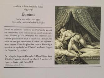 """Mars et Venus, extraites du cycle dit """"de L'Arétin""""attribué à Augustin Carrache (1557-1602)"""