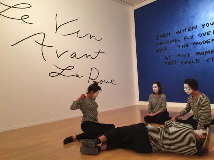 Jessica Diamond, Le Vin Avant La Roue, 2015 and The Modern World, 1989/1991