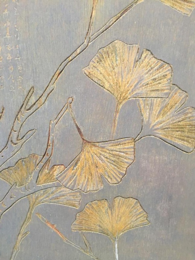 Wood engraving (detail) - Ginkgo, 2011