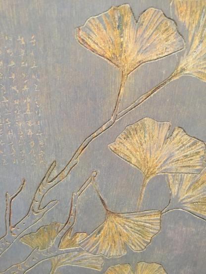 Wood engraving (detail) - Ginkgo, 2011