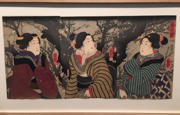 Utagawa Kuniyoshi, Premières fleurs de prunier, vers 1848-1849