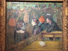 Les peintures décrivant la vie au Moulin Rouge. Henri de Toulouse-Lautrec, Bal du Moulin de la Galette, 1889.