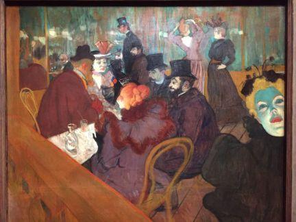 Les peintures décrivant la vie au Moulin Rouge. Henri de Toulouse-Lautrec, Au Moulin Rouge, 1892-1895.
