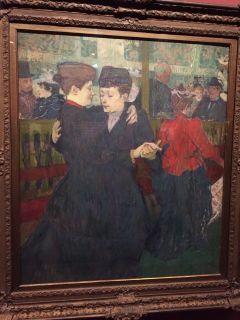 Les peintures décrivant la vie au Moulin Rouge. Henri de Toulouse-Lautrec, Au Moulin Rouge: les deux valseuses, 1892.