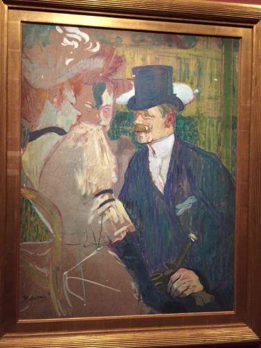 Les peintures décrivant la vie au Moulin Rouge. Henri de Toulouse-Lautrec, Étude pour Flirt (L'Anglais au Moulin Rouge), 1892.