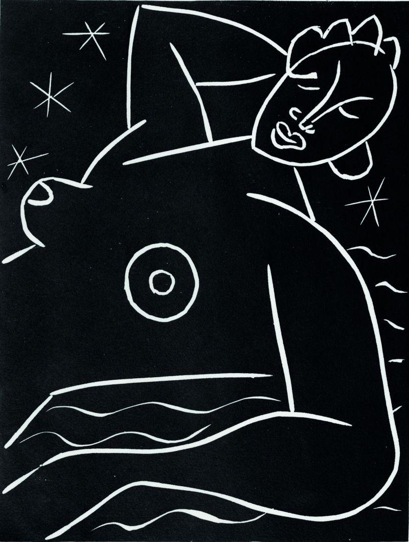 © Succession Henri Matisse Henri Matisse, La frégate, 1938, linogravure.