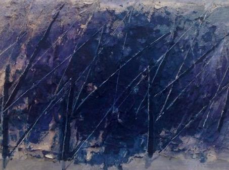 讓·福特里埃 Jean Fautrier (1898 – 1964), 沒有標題, 紙上油畫, 38.1 x 61.6厘米; 15 X 24 1/4英寸, 畫於1959年